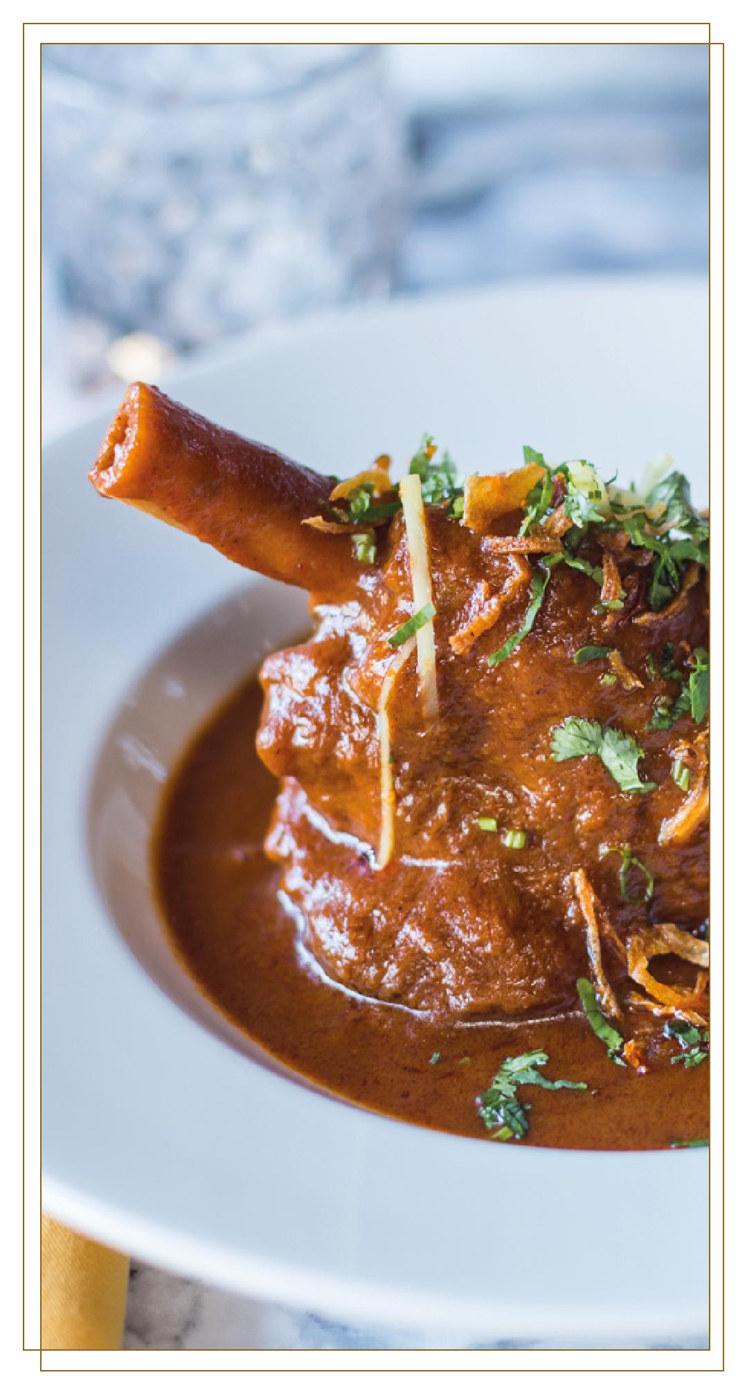 Lamb shank Chatora restaurant